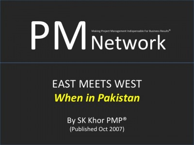 PMI PM Network (Oct 2007): When in Pakistan