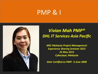 PMP & I – Vivian Mah PMP @DHL IT Services Asia Pacific