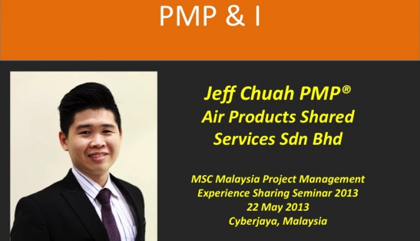 PMP & I – Jeff Chuah PMP @Air Products Shared Services