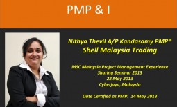 PMP & I –  Nithya Thevil A/P Kandasamy PMP®  @Shell Malaysia Trading