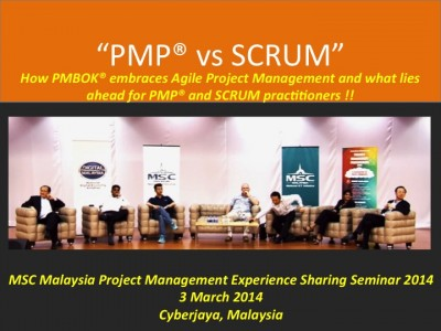 PMP versus SCRUM: How PMBOK(r) embraces Agile Project Management